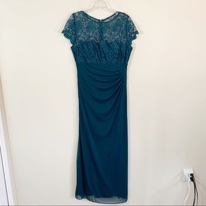 Sténay • Teal Floor Length Evening Gown Size 16